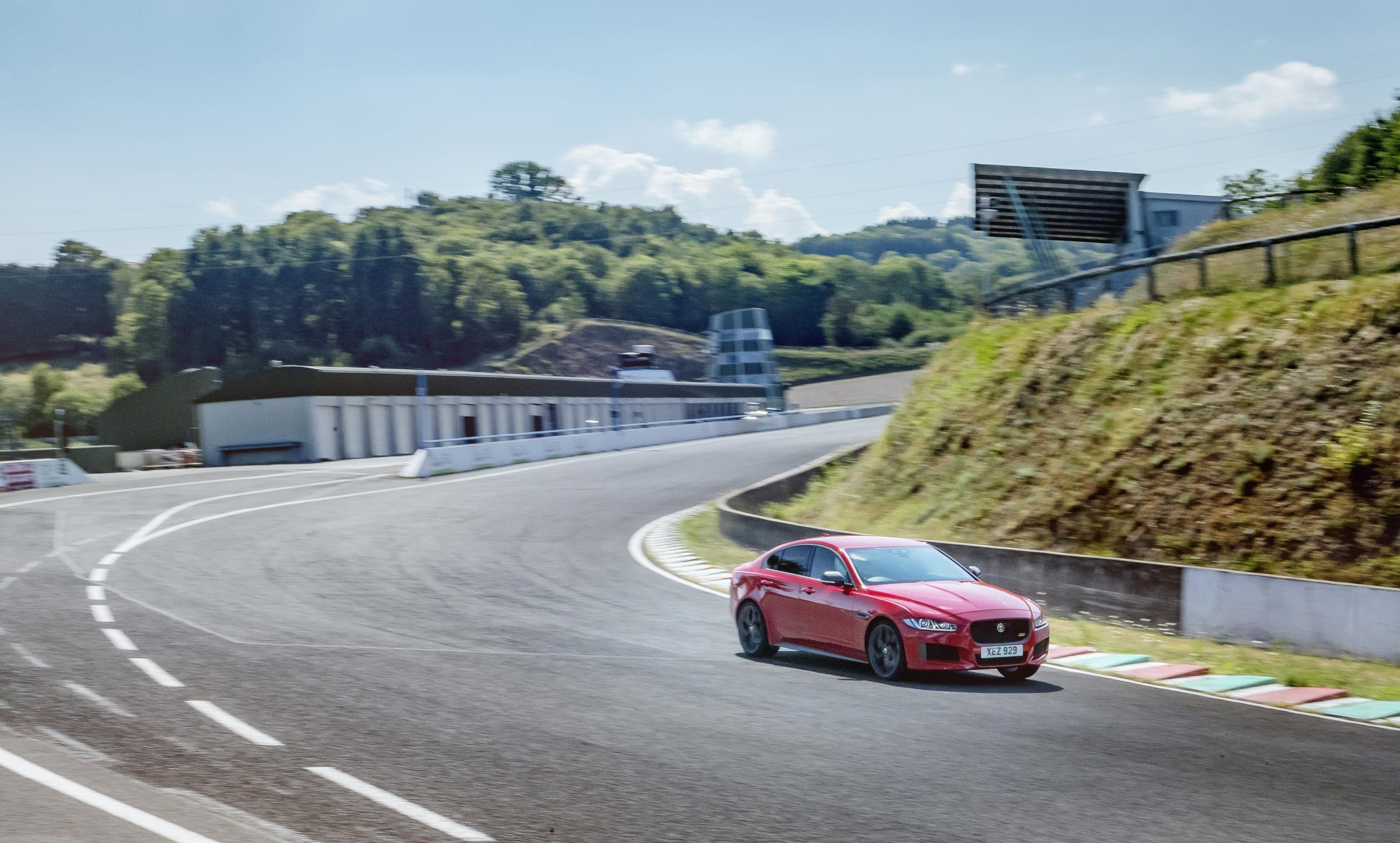Jaguar Bolsters Performance Stance With New Lap Record Forces Complete The Circuit After Completing Fastest Ever Of Nrburgring Nordschleife In A Production Saloon Behind Wheel Xes Track Ready Stablemate